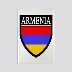 Armenia Flag Patch Rectangle Magnet