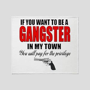 Gangster Throw Blanket