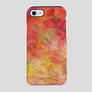 Floral Pink Flowers Vintage Pa iPhone 7 Tough Case