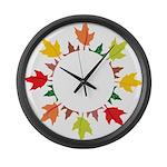 Fall leaves Large Wall Clock
