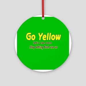 Go Yellow Ornament (Round)