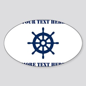 Custom nautical ship wheel Sticker