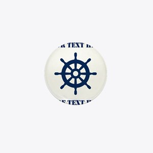 Custom nautical ship wheel Mini Button