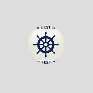 Custom nautical ship wheel Mini Button