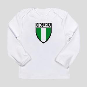 Nigeria Flag Patch Long Sleeve Infant T-Shirt