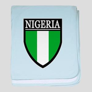 Nigeria Flag Patch baby blanket