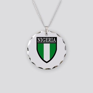 Nigeria Flag Patch Necklace Circle Charm