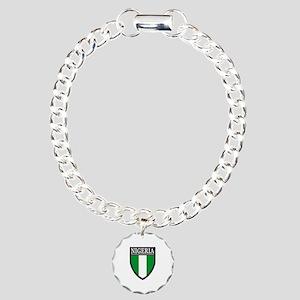 Nigeria Flag Patch Charm Bracelet, One Charm