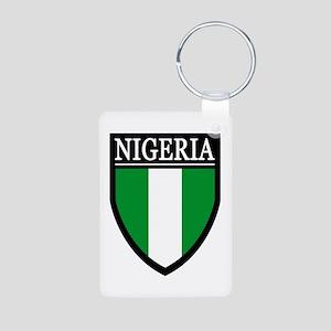 Nigeria Flag Patch Aluminum Photo Keychain