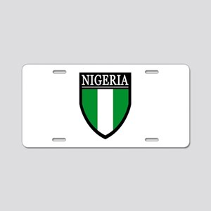 Nigeria Flag Patch Aluminum License Plate