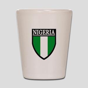 Nigeria Flag Patch Shot Glass