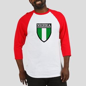 Nigeria Flag Patch Baseball Jersey