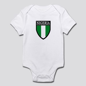 Nigeria Flag Patch Infant Bodysuit
