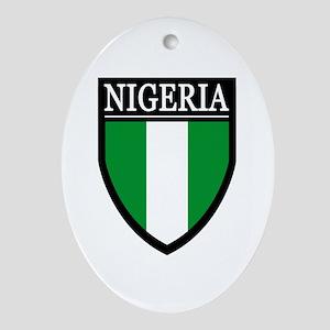 Nigeria Flag Patch Ornament (Oval)