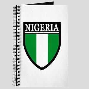 Nigeria Flag Patch Journal