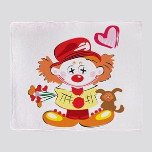 Love Clown Throw Blanket