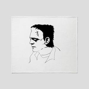 Frankenstein Illustration Throw Blanket
