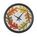 Autumn leaves Large Wall Clock