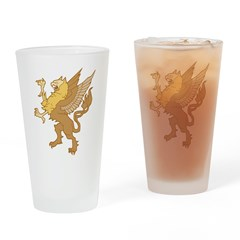 Gothic Griffin Pint Glass
