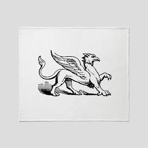 Griffin Illustration Throw Blanket