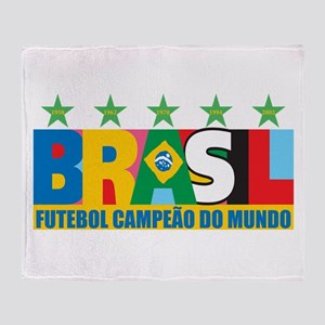 Brazilian World cup soccer Throw Blanket