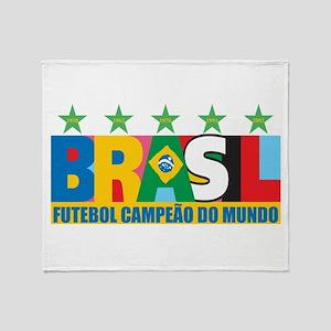 Brazilian World cup soccer Throw Blanket
