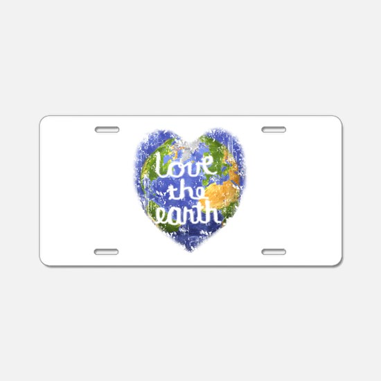 Love the Earth Aluminum License Plate