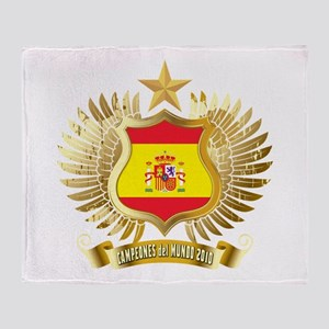 Spain world cup champions Throw Blanket