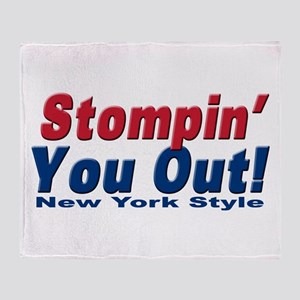 NY GIANTS Stompin you out Throw Blanket
