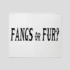 fangs or fur Throw Blanket