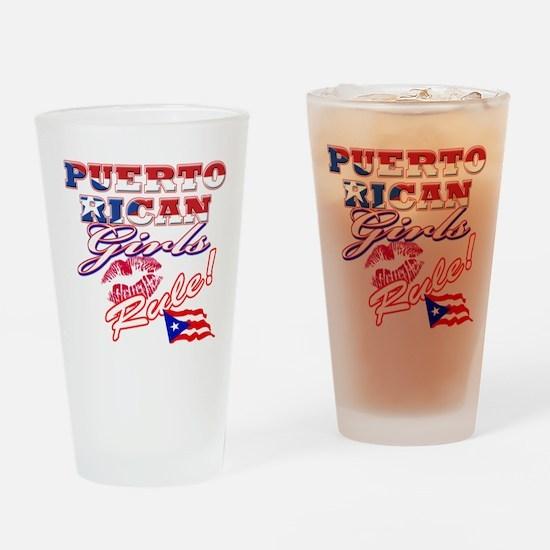 Puerto rican girl Pint Glass