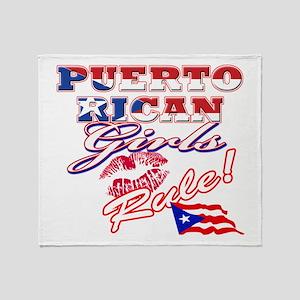 Puerto rican girl Throw Blanket