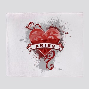 Heart Aries Throw Blanket