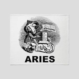 Gothic Aries Throw Blanket