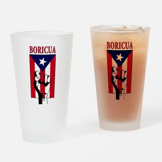 Puerto rican pride Pint Glass
