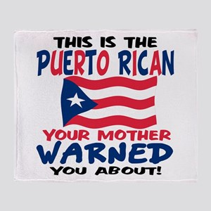 Puerto rican warned you about Throw Blanket