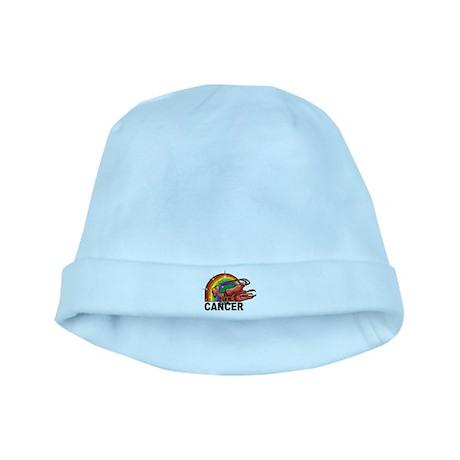 Rainbow Cancer baby hat