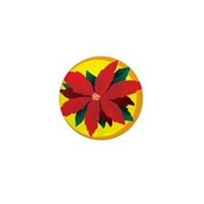 Poinsettia Mini Button