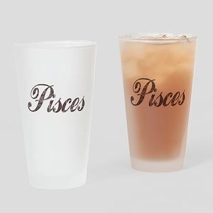 Vintage Pisces Pint Glass