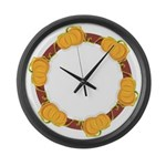 Pumpkins Large Wall Clock