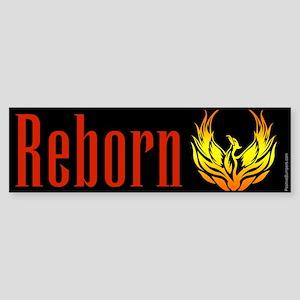 Reborn - phoenix on black Bumper Sticker