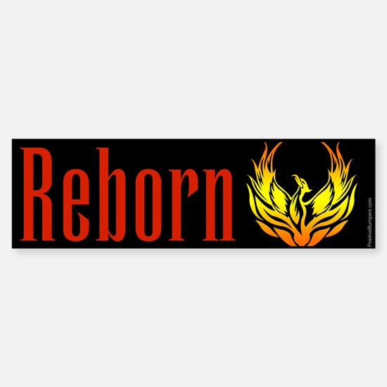 Reborn - phoenix on black Bumper Bumper Bumper Sticker