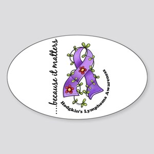 Hodgkin's Lymphoma Awareness Sticker (Oval)
