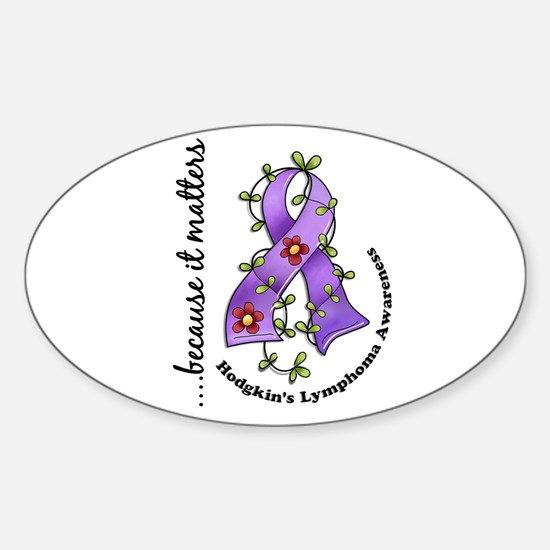 Hodgkin's Lymphoma Awareness Sticker (Oval)