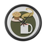 Coffee Large Wall Clock