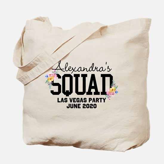 CUSTOM Squad Member Flower Tote Bag