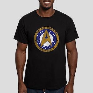 Enterprise 1701-A Men's Fitted T-Shirt (dark)