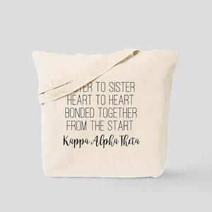 Kappa Alpha Theta Sister to Sister Tote Bag