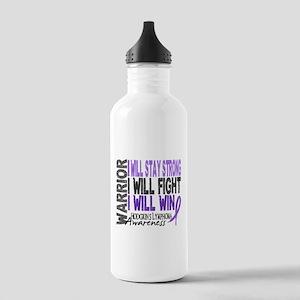 Hodgkin's Lymphoma Warrior Stainless Water Bottle