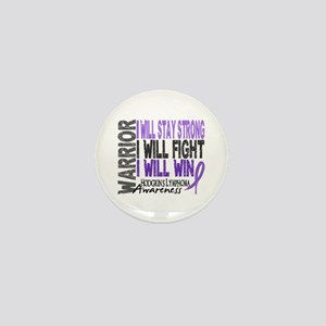 Hodgkin's Lymphoma Warrior Mini Button